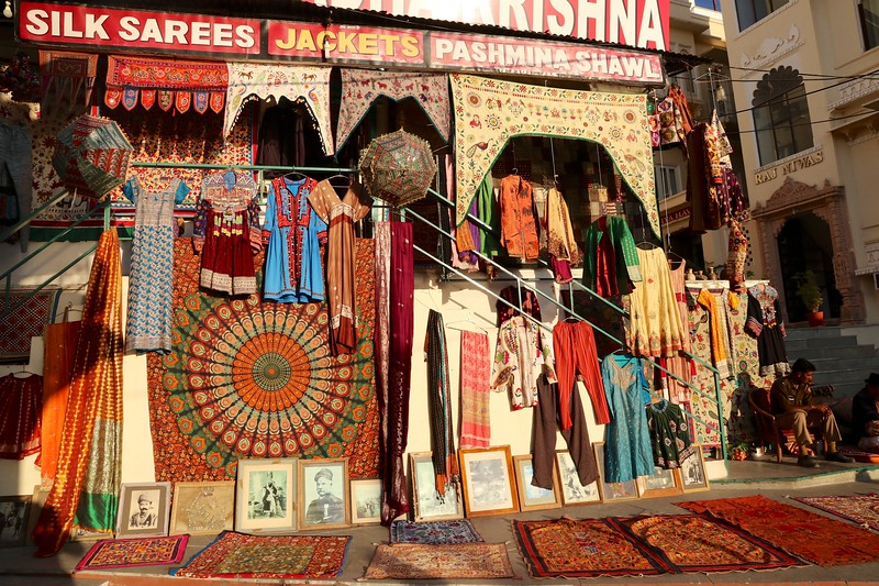 Plentiful shopping opportunities in charming Udaipur