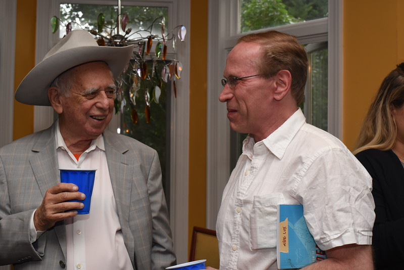 David Freeman, Jerry Brookover. Blue Wave Book Opening. June 5, 2018. 616 North Carolina St SE. Amanda Warden..JPG