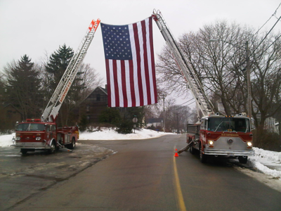 1/5/2014 Funeral for Westbrook Past Chief Loren E Baker Jr
