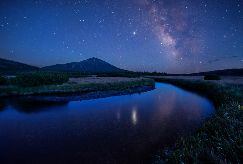 Mt. Bachelor and the Milky Way