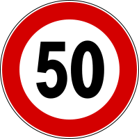Italian Speed Sign