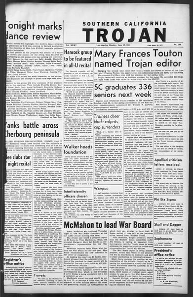 The Trojan, Vol. 35, No. 130, June 12, 1944