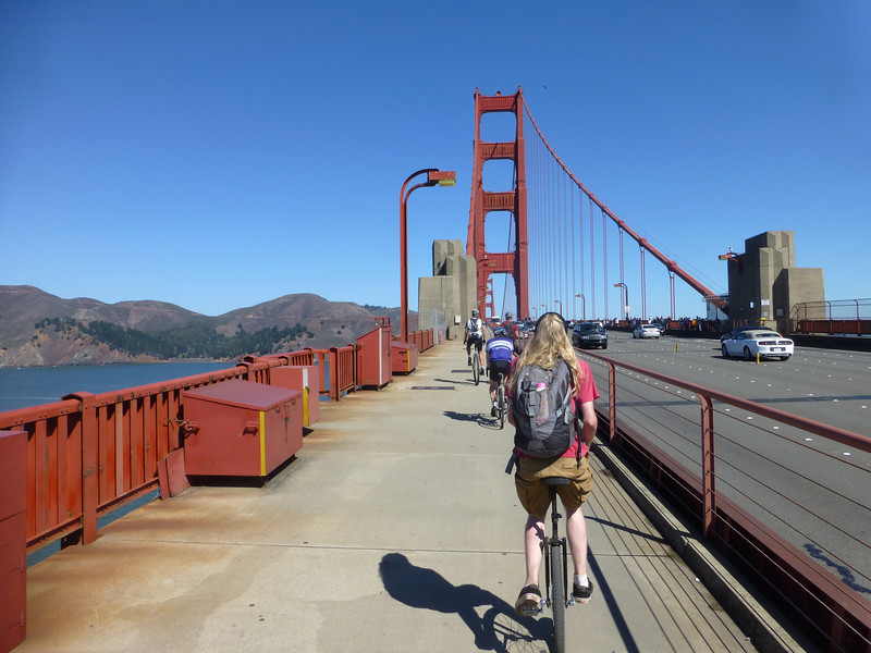 Riding the Golden Gate Bridge