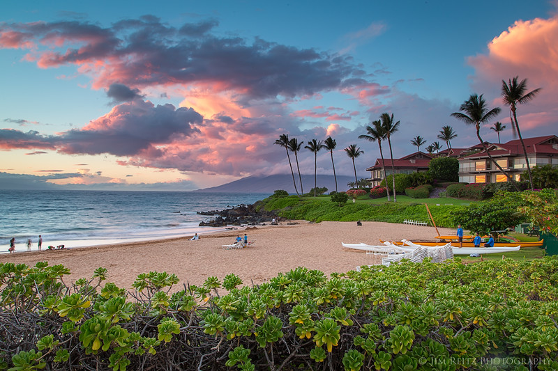 Sunset on Polo Beach in Wailea, Maui