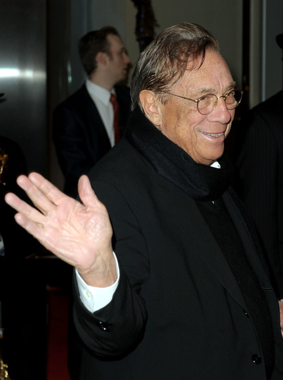 . Los Angeles Clippers owner Donald Sterling arrives at City of Hope\'s Music and Entertainment Industry\'s Spirit of Life Gala in the Diamond Ballroom at the Ritz-Carlton and JW Marriott Hotels on January 13, 2010 in Los Angeles, California.  (Photo by Kevin Winter/Getty Images)