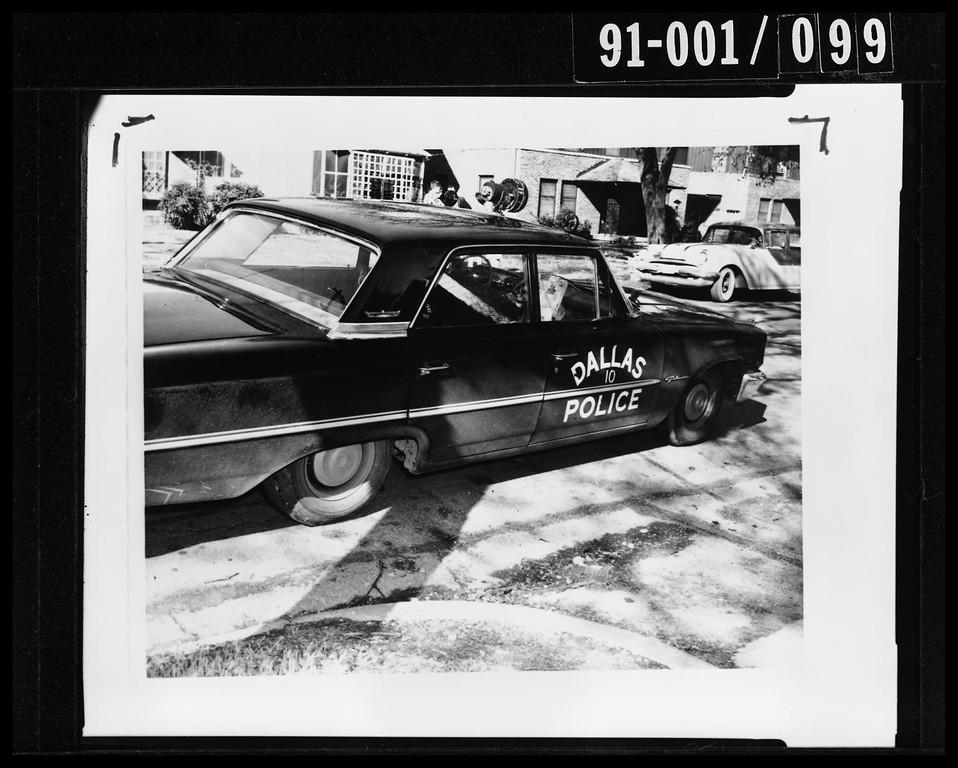 . Oswald encountered and shot patrolman J.D. Tippit on a Dallas street. Tippit had identified Oswald as the suspect police were looking for. Dallas Police Department/Dallas Municipal Archives