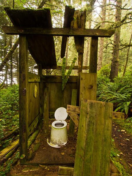 Abandoned outhouse