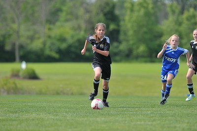 U11 Girls - Troy SC Vs Grand Rapids Crew Jr - 1st Half