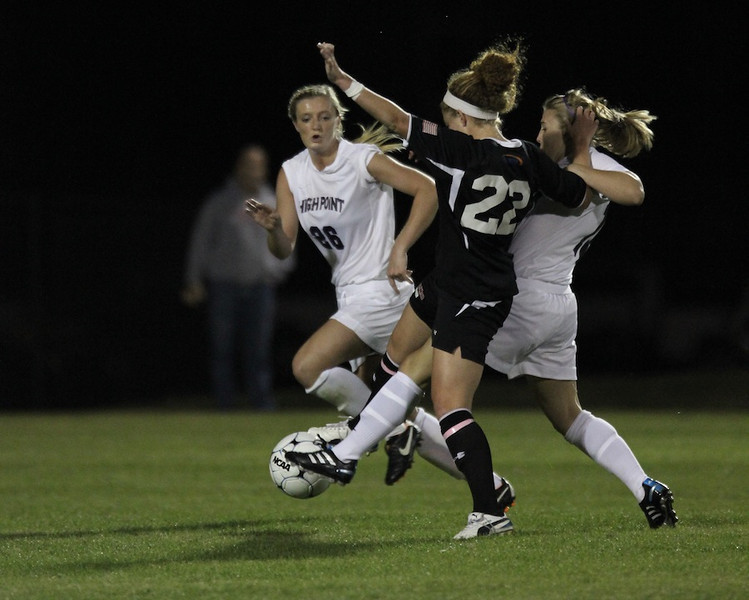 Sarah Morabito, 22, fights for the ball.