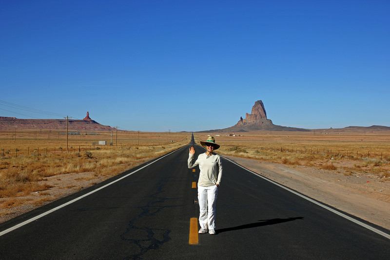 Monument Valley - We took a lot of these photos on the road.  Love the long streches