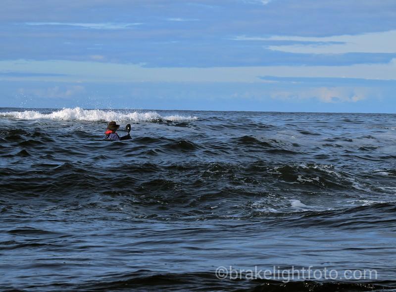 Running past reefs off Spring Island