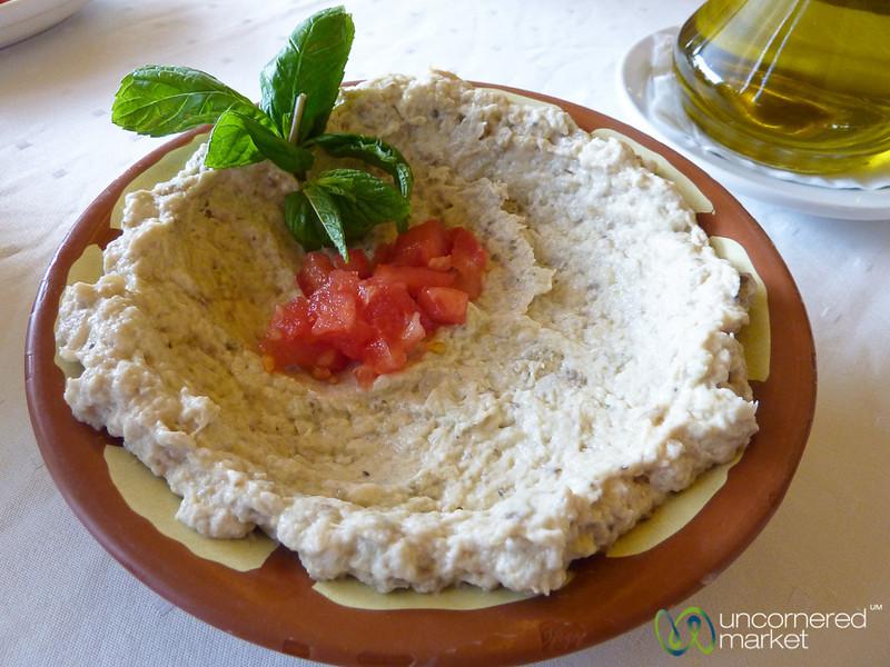 Aubergine-Garlic Dip (Moutabel) - Jerash, Jordan