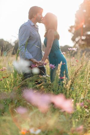 Julie and Tony in the Rosebank Flower Fields