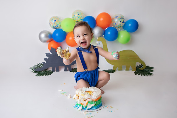 W's Dino Cake Smash