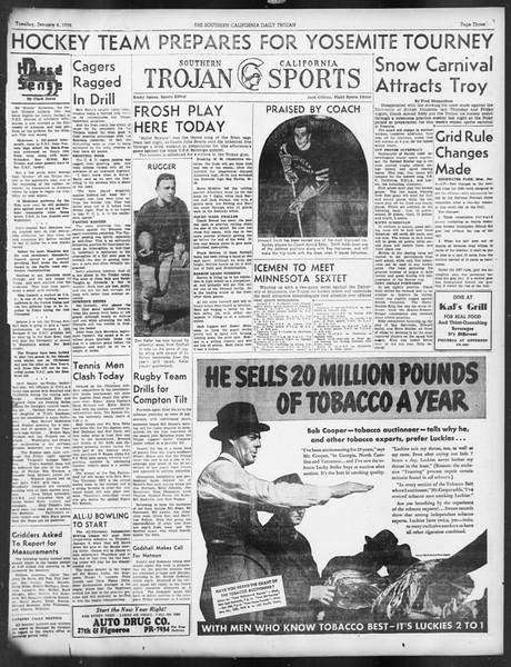 Daily Trojan, Vol. 29, No. 59, January 04, 1938