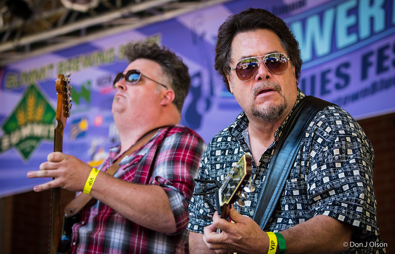 Jeremy Johnson and John Franken--Lisa Wenger and her Mean Mean Men-Lowertown Blues Festival 2015-Mears Park-St. Paul MN