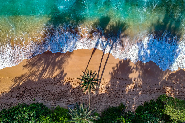 Aerial photos of coastlines and beaches