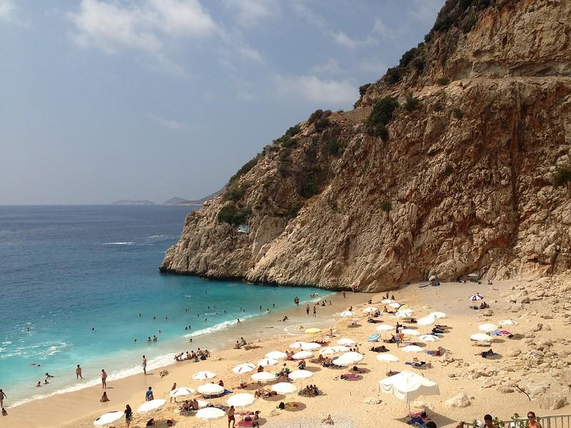 Beach in Kas - Best places to visit in Turkey