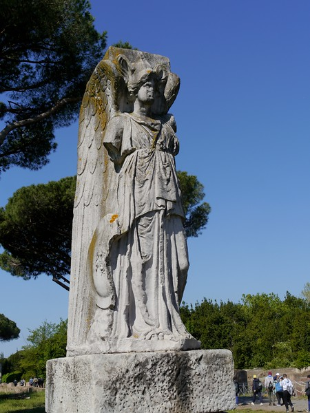 Winged minerva at the gates to the Roman port of Ostia.