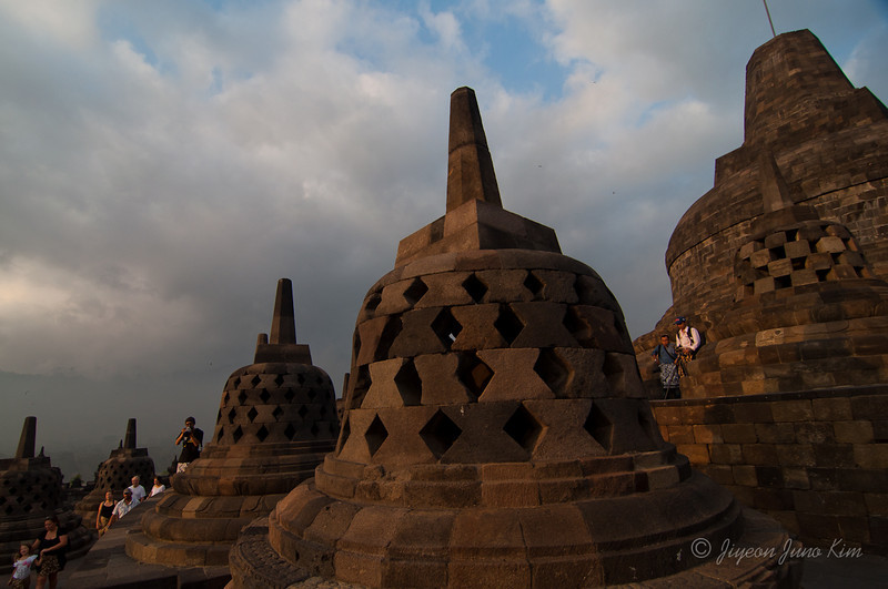Borobudur temple at sunrise