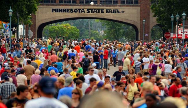 ". 2. MINNESOTA STATE FAIR <p>Where else can you join a quarter-million people � walking around really, really slowly. (unranked) </p><p><b><a href=""http://www.twincities.com/statefair/ci_26447150/minnesota-state-fair-attendance-nears-record\"" target=\""_blank\""> LINK </a></b> </p><p>   (Pioneer Press: Chris Polydoroff)</p>"