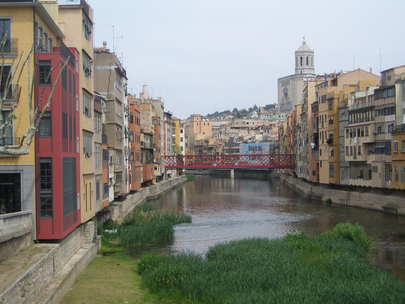 Girona.  Having seen everything in Barcelona, I headed out for a day trip.  I felt very proud of myself that I went and got train tickets and headed there all by myself.  But, it would've been better if Jared was there, too.