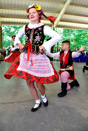 8/24/2019 Mike Orazzi | Staff Dancers during the 39th annual Dozynki Polish Harvest Festival at Falcon Field in New Britain on Saturday.
