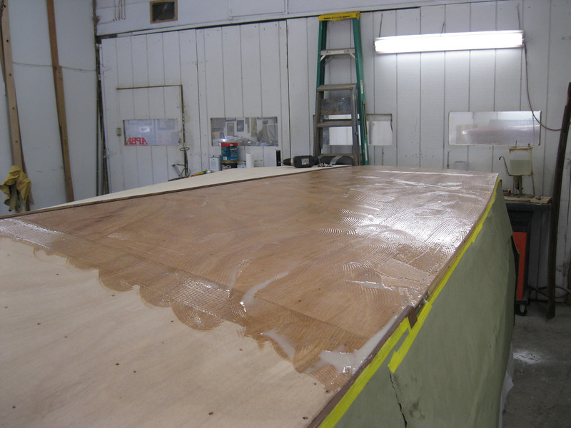Epoxy applied to the bottom before the second layer is installed.