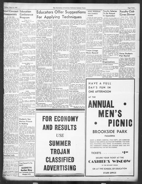 Summer Trojan, Vol. 16, No. 7, July 16, 1937