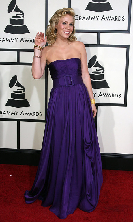 . Singer Natasha Bedingfield arrives at the 50th Grammy Awards in Los Angeles on February 10, 2008. AFP PHOTO/Gabriel BOUYS