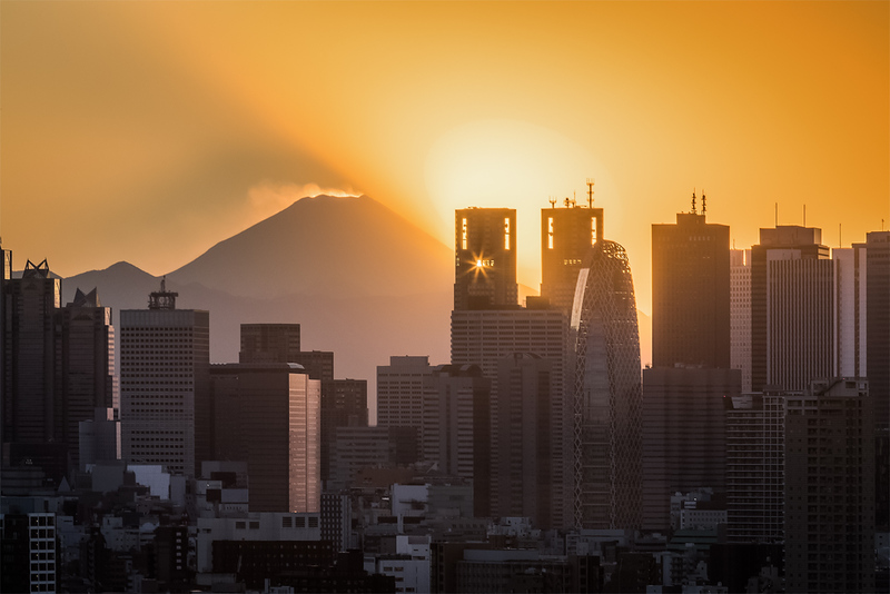 Towers of Shinjuku with Mt Fuji in the background
