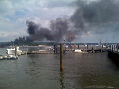 8/26/10 Boat Fire Essex Harbor