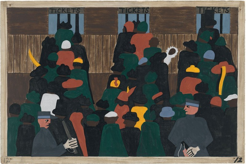 "Jacob Lawrence, ""Migration of the Negro No. 12,"" 1941"