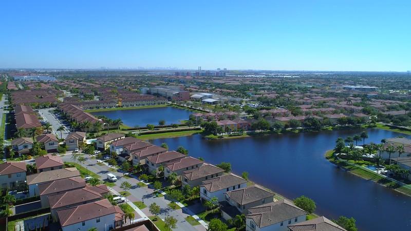 Aerial tour of Doral FL USA 4k