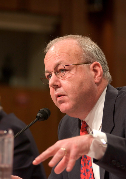 Cofer Black, former director of the counter terrorism center testifies at the Senate Hearings on the 911 disaster.
