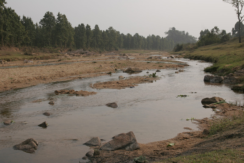 A river in the forest of Jharkhand, Ranchi, India