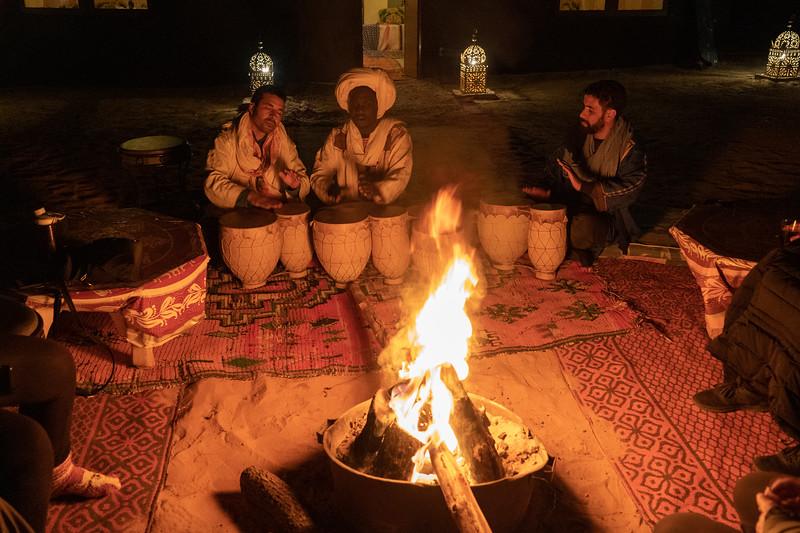 Berber drums in the Sahara Desert