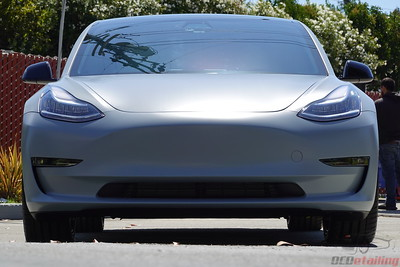 Tesla Model 3 - 3M Battleship Grey with PPF and CQuartz Finest Reserve Ceramic Coating