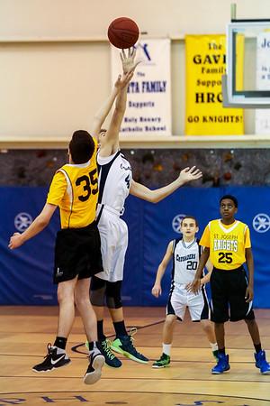 Feb 12 - Basketball - 8th Gr Gold vs St Joseph