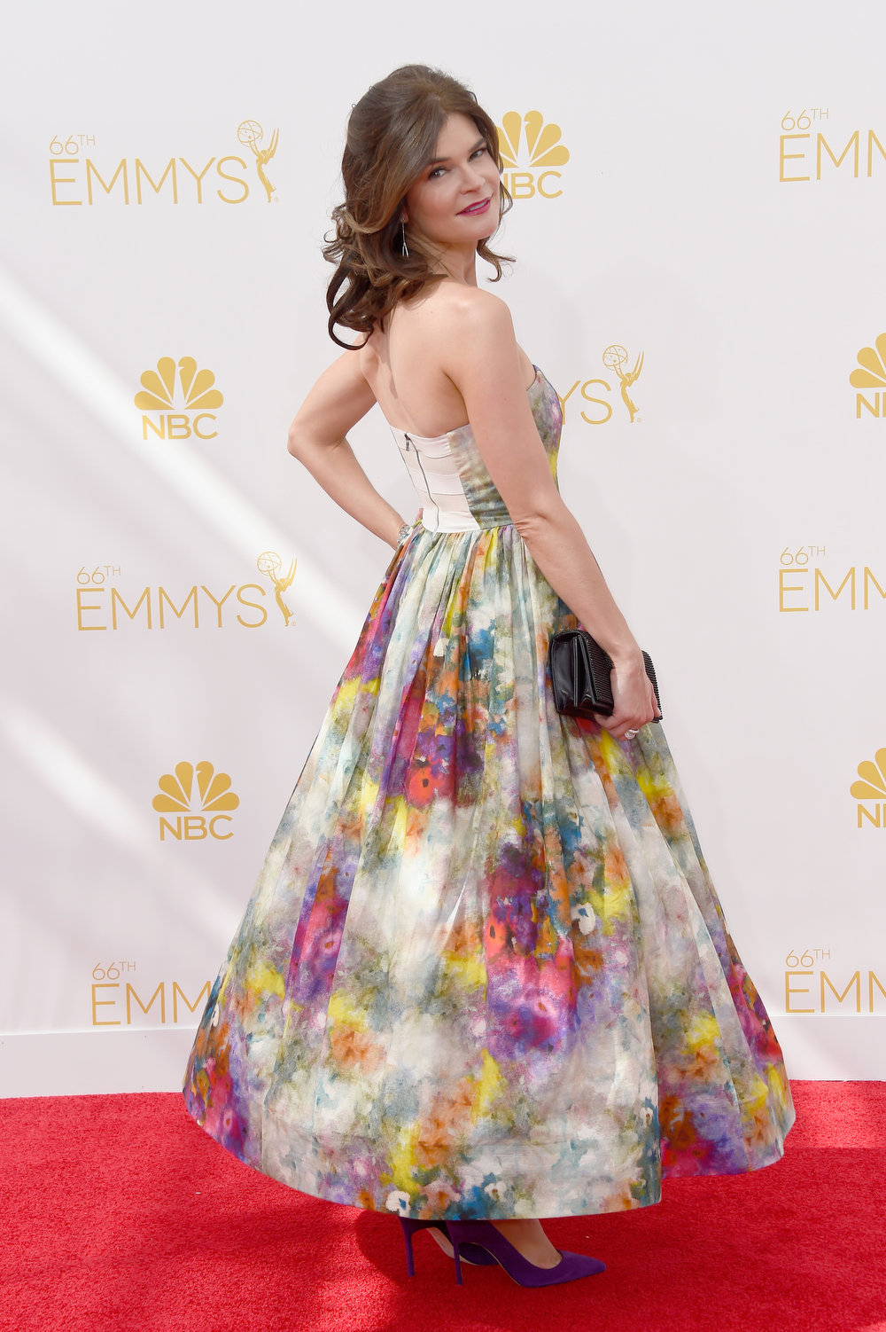 . Actress Betsy Brandt attends the 66th Annual Primetime Emmy Awards held at Nokia Theatre L.A. Live on August 25, 2014 in Los Angeles, California.  (Photo by Frazer Harrison/Getty Images)