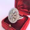 2.23ctw Old European Cut Diamond Filigree Ring 3