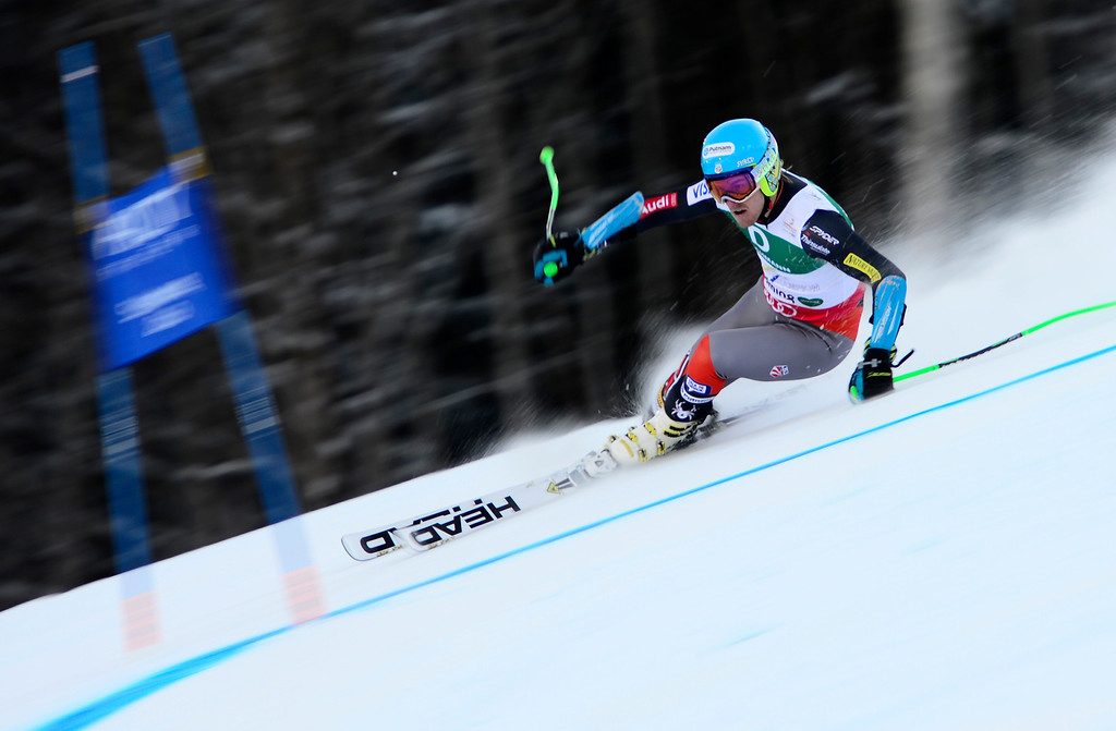 . US Ted Ligety skis during the first run of the men\'s Giant slalom at the 2013 Ski World Championships in Schladming, Austria on February 15, 2013.   FABRICE COFFRINI/AFP/Getty Images