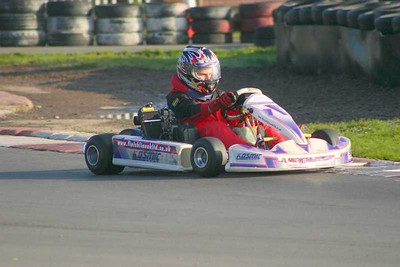 Alistair Karting at Rye House 23 Oct 2007