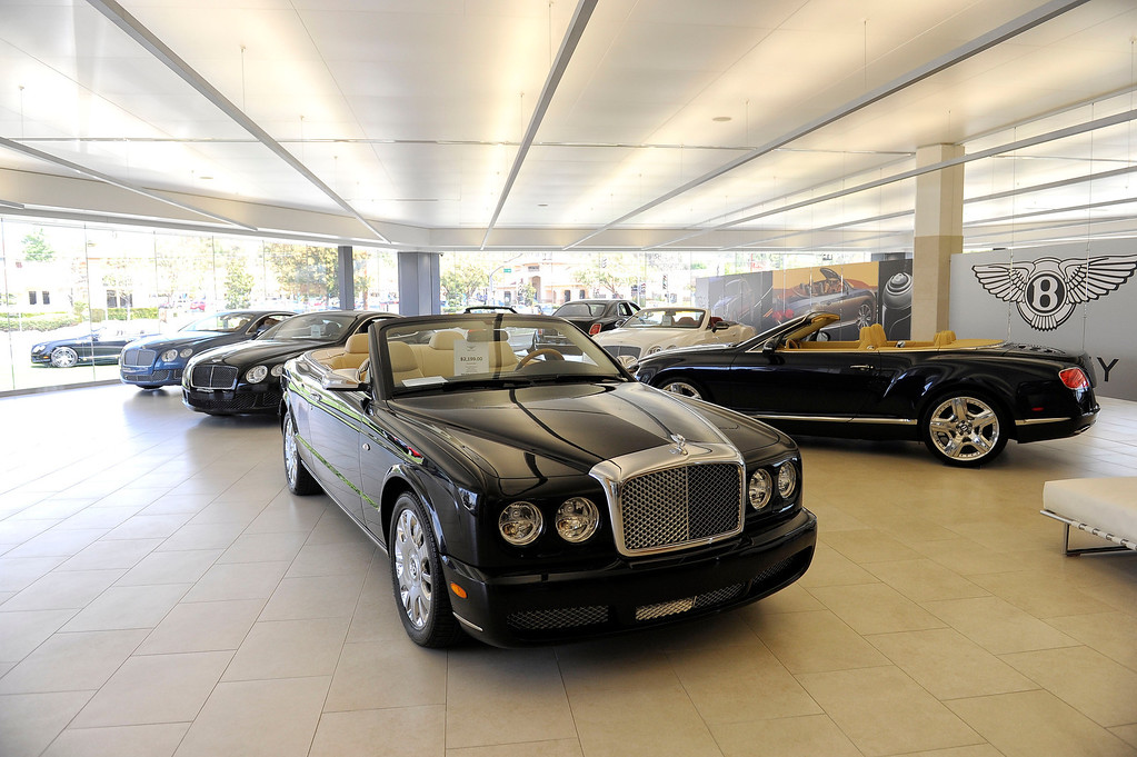 . Bentley vehicles at O\'Gara Coach Westlake in Thousand Oaks Wednesday, April 3, 2013. (Hans Gutknecht/Los Angeles Daily News)