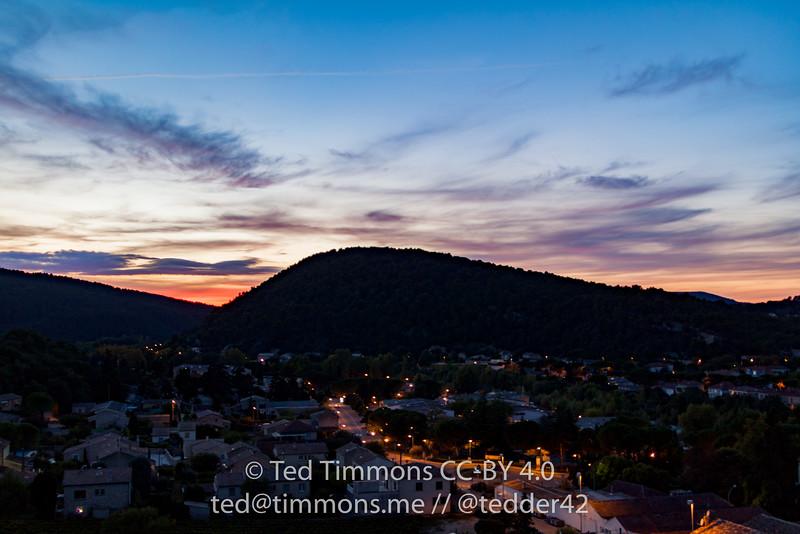 Sunset over Vaison-la-Romaine