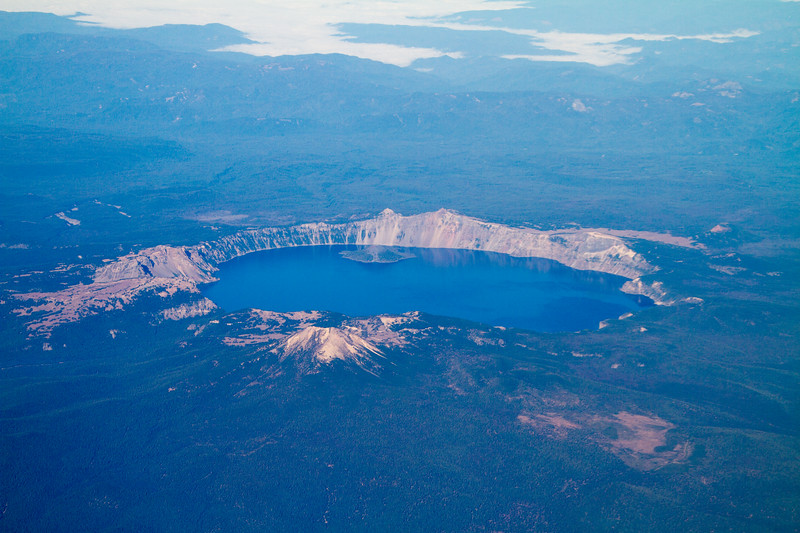 Aerial View of Crater Lake National Park - Oregon - USA