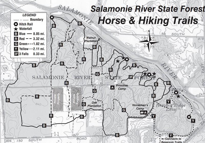 Salamonie Lake (Trail Map)