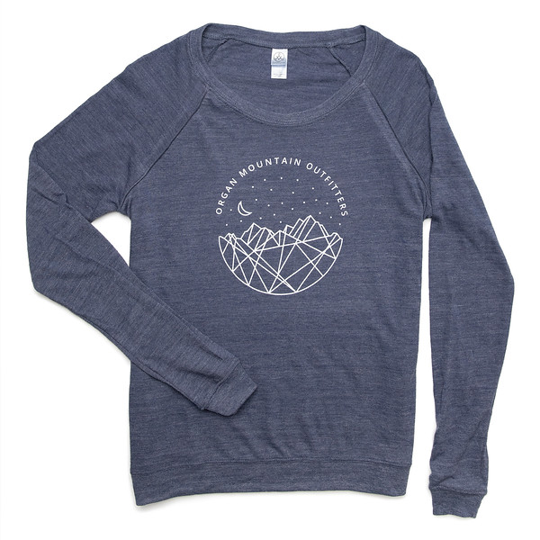 Outdoor Apparel - Organ Mountain Outfitters - Womens - Astro Nights Slouchy Pullover Navy.jpg