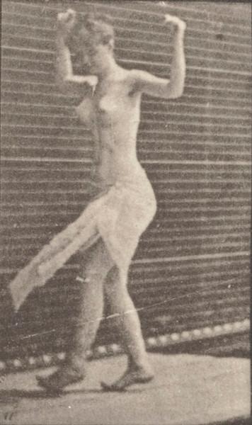 Semi-nude woman dancing