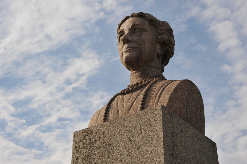 In the island of Öland, Sweden, in the Baltic sea. The Swedish royal family has its Summer mansion here.  Solliden was built by Queen Sophia Maria Victoria av Baden (1862-1930) (statue)